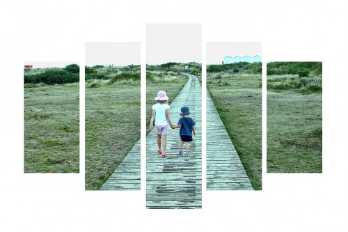 A canvas split image can  create a fantastic centre piece to any room.