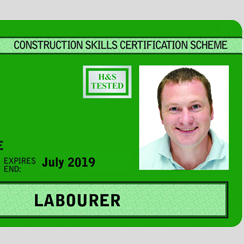 Level 1 H&S in a Construction Environment (1 day* CSCS Labourer card course)