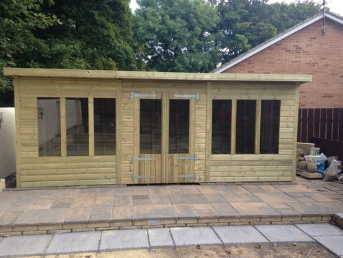 18x8 Pent Summer House