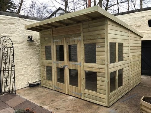 10x8 Pent Summer House