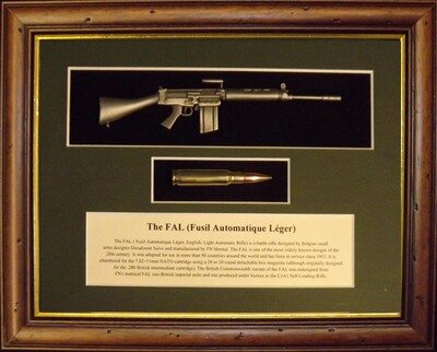 Wall Mounted 1/6 Pewter Guns
