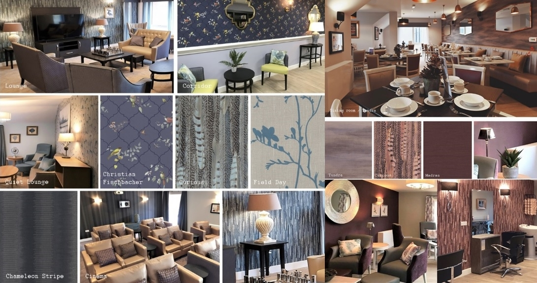 Tektura case study of our wall coverings for Wilford View Care Home