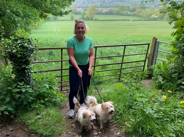 Bailey Cook pick up the 2.6 mile challenge for bowel cancer
