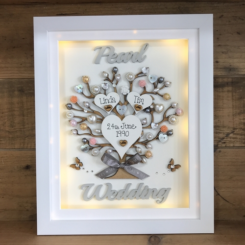 "LED "" Pearl wedding "" frame"