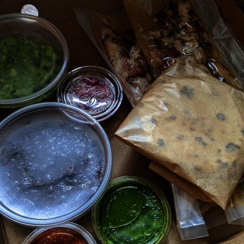 Chicken  and Brisket Taco Box