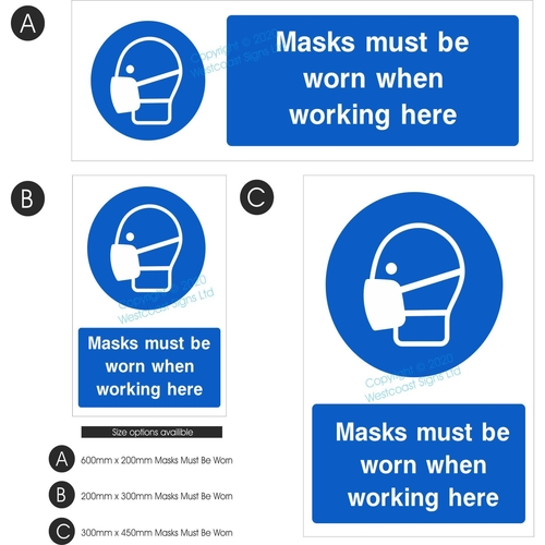Masks must be worn
