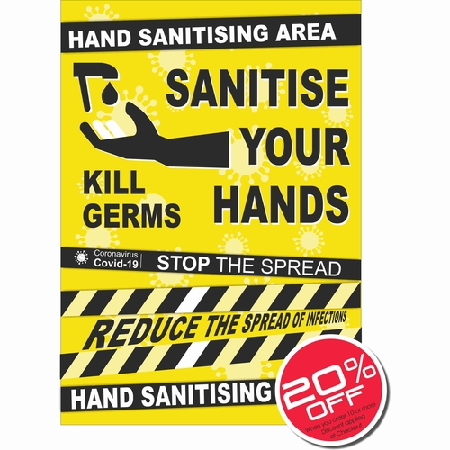 Sanitise your Hands Stop the Spread