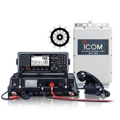 ICOM GM800 GMDS MF / HF Transceiver With Class A DSC and AT141 Automatic Antenna Tuner