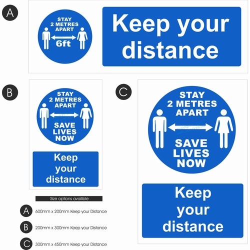 Keep your Distance   Blue Design