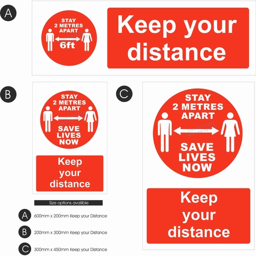 Keep your Distance - Red Design Copy