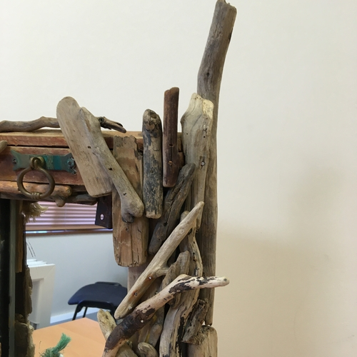 Stand Up Driftwood Mirror.