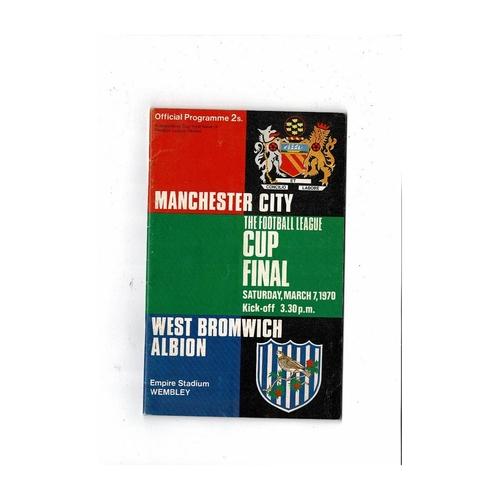 1970 Manchester City v West Bromwich Albion League Cup Final Football Programme + League Review