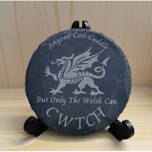Only the Welsh can Cwtch Engraved Clock Christmas Gift