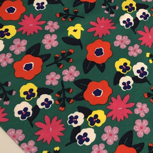 Flower Fantasy Green Jersey 54cm Remnant