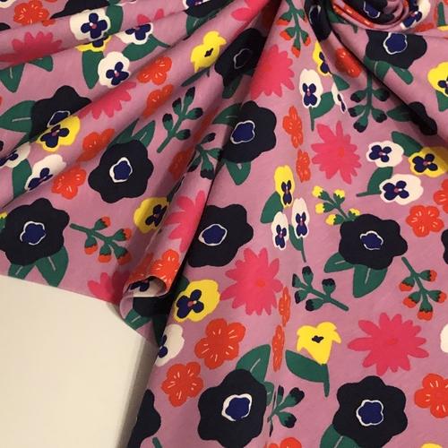 Flower Fantasy Lilac Jersey 56cm Remnant
