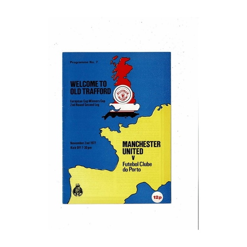 European Cup Winners Cup Football Programmes