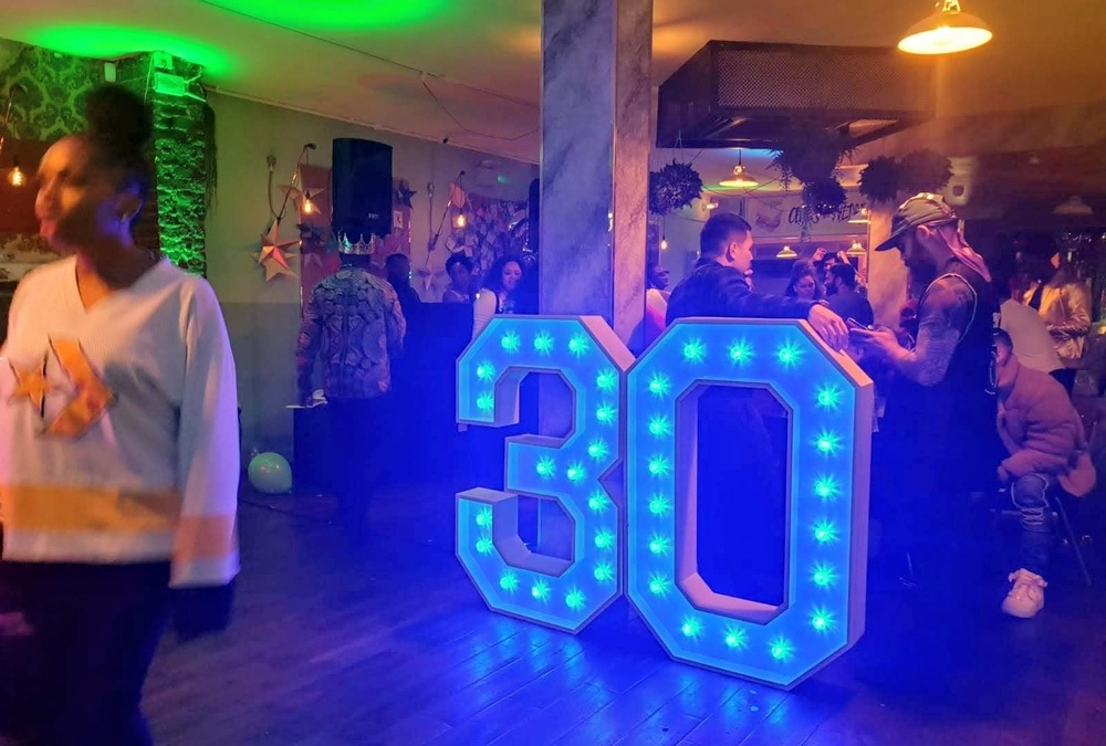 Light Up Number Hire for 30th Birthday