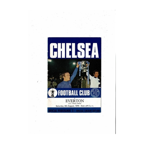1970 Chelsea v Everton Charity Shield Football Programme