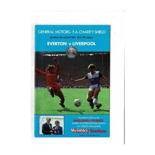 1986 Everton v Liverpool Charity Shield Football Programme