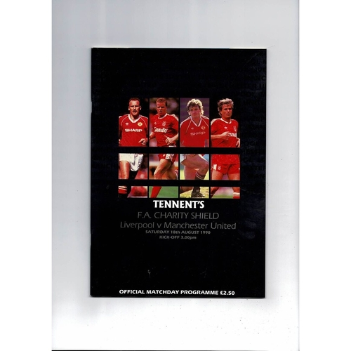1990 Liverpool v Manchester United Charity Shield Football Programme
