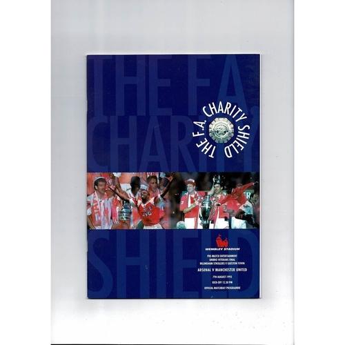1993 Arsenal v Manchester United Charity Shield Football Programme