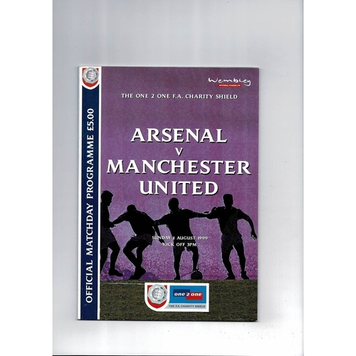 1999 Arsenal v Manchester United Charity Shield Football Programme