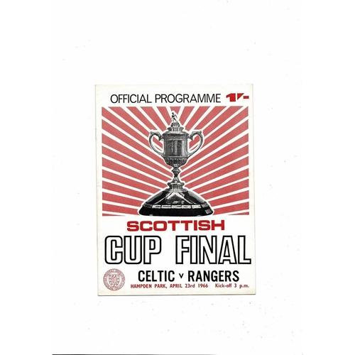 1966 Celtic v Rangers Scottish Cup Final Football Programme