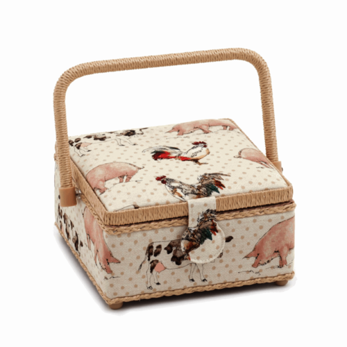 Sewing Box Square Farmyard
