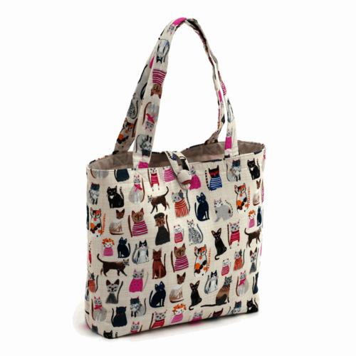 Craft Bag Shoulder Cats in Jumpers