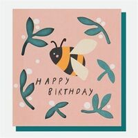 Bee Cut Out Birthday Card