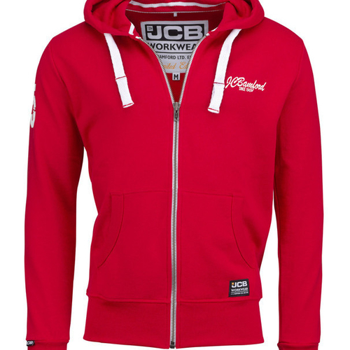 Limited Edition Red Hoodie - JCB Workwear - D+LA