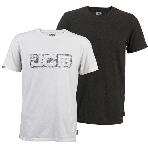 Twin Pack T-Shirts Grey/White - JCB Workwear - D+AJ
