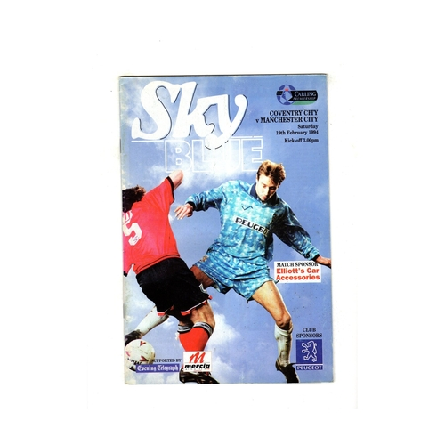 Manchester City Away Football Programmes