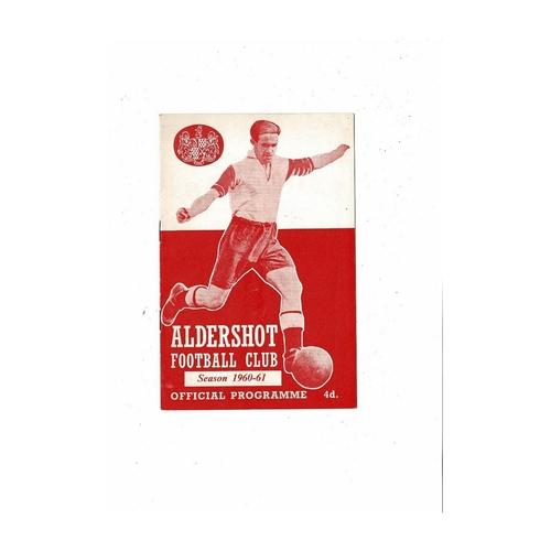 1960/61 Aldershot v Colchester United FA Cup Football Programme