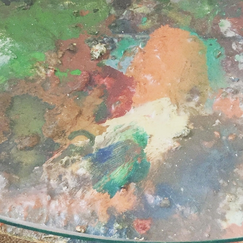 Antique French Artists Palette Table