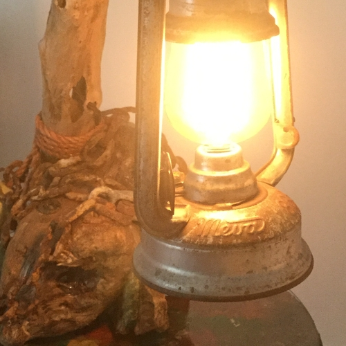 Driftwood Tilley Lantern Light.