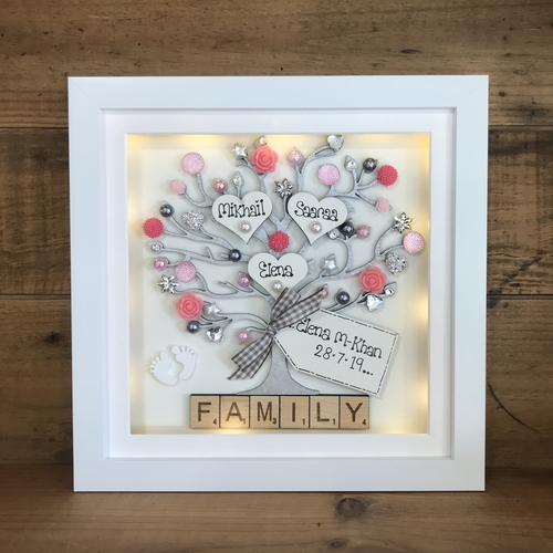 NEW BABY floral frame