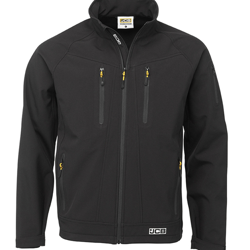 Black Trade II Softshell Jacket - JCB Workwear - D+IR