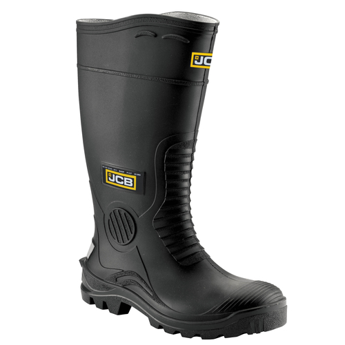 Black Wellington with Steel Midsole - JCB Workwear - HYDRO/B