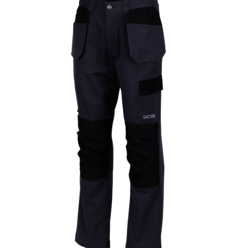 Plus Trousers Grey/Black with Holster Pockets - Reg Leg - JCB Workwear - D+AF