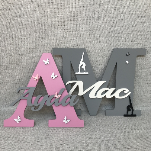Monogram door signs