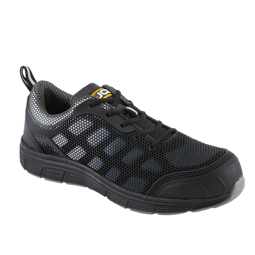 Grey Mesh & Black KPU Trainer with Steel Midsole - JCB Workwear - CAGELOW/B