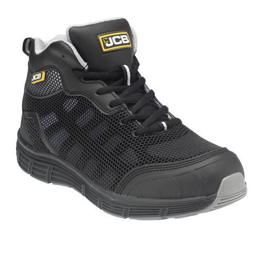 Grey Mesh & Black KPU Midcut with Steel Midsole - JCB Workwear - HYDRADIG/B