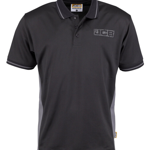 Performance Polo Shirt with Stay Dry Technology - JCB Workwear - D+IA/D+IB