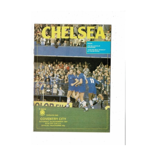 1984/85 Chelsea v Coventry City Football Programme