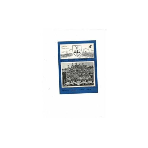 1953/54 Watford v Gillingham Football Programme