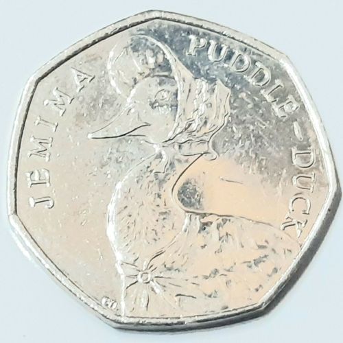 2016 Beatrix Potter Jemima Puddle-Duck  50p Coin Uncirculated