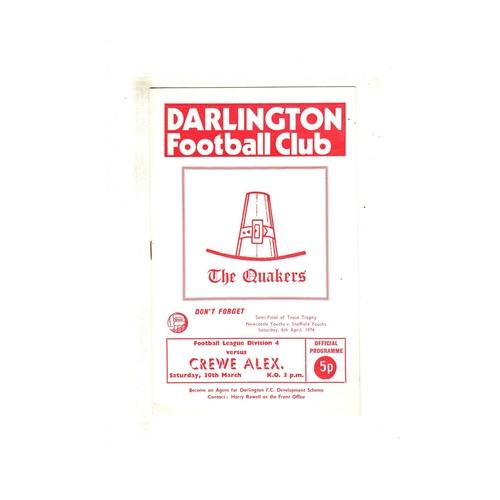 Darlington Home Football Programmes