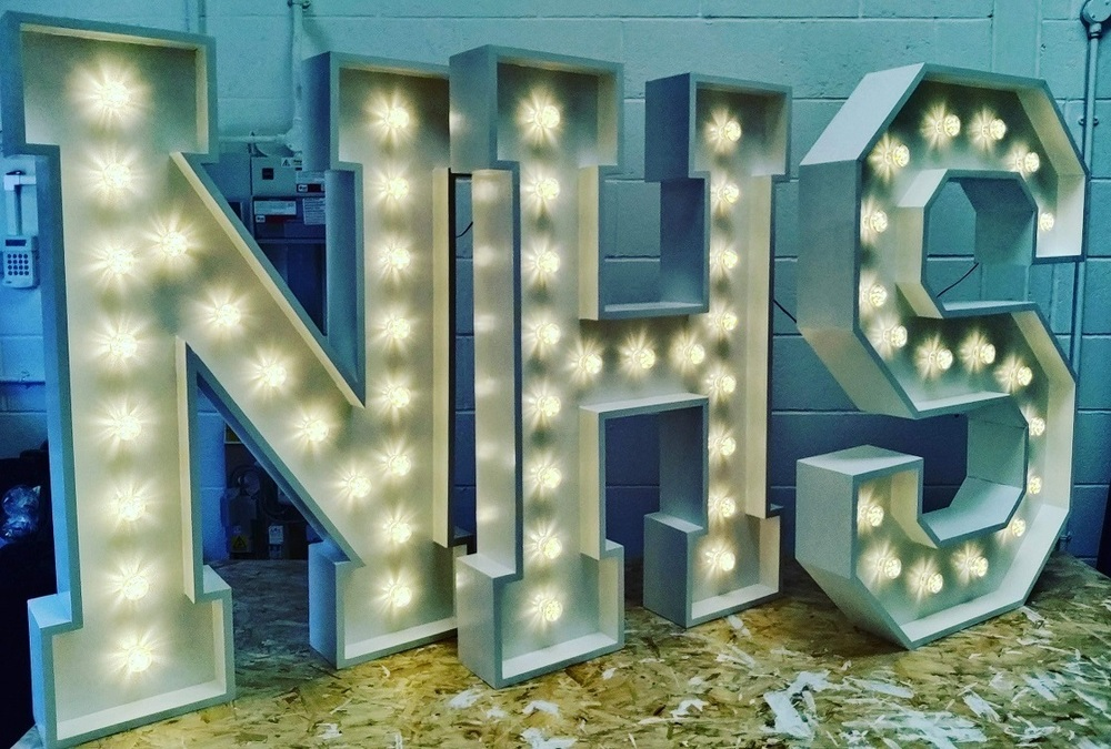 Light Up Letters NHS Warm White Bulbs