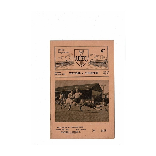 1959/60 Watford v Stockport County Football Programme